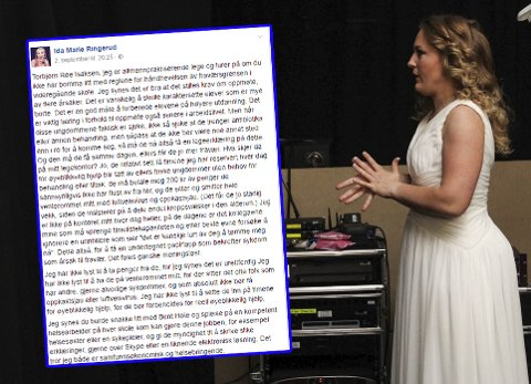 Lege Ida Marie Ringerud går hardt ut mot de nye fraværsreglene i et innlegg på Facebook (innfelt). Bildet er fra årets utgave av Urbane Totninger