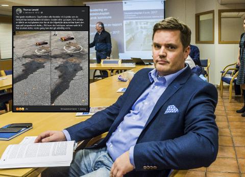 HÆRVERK: Thomas Løvald og de andre beboerne på Langestrand fortviler over Hærverk. Foto: ArkivfotoLasse Nordheim/Skjermdump fra Facebook