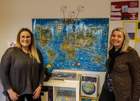 INSPIRERENDE: – Det er veldig inspirerende å jobbe ved denne skolen, sier assisterende rektor Ann Cathrin Hammeren, til høyre, og kontaktlærer Tina Pettersen ved Solør Montessoriskole.