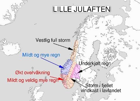 Tweet fra Meteorologene.