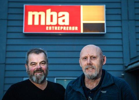 - Det betyr mye for oss å lande denne byggekontrakten med Nova Sea. En fin førjulsgave, sier daglig leder Trond Harry Hansen og prosjektleder  Roy Blokhus i MBA Entreprenør AS.
