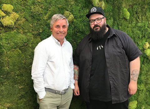 MØTTES: Konsernsjef Haakon Tronrud og Øyvind Mobekk, som skrev et kritisk leserinnlegg om byutvikling. Nå har de satt seg ned og diskutert saken.