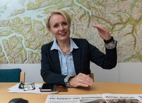 Leder: Wenche Rognås er prosjektleder for teknisk gjennomføring av kommune- og regionreformene i matrikkel og grunnbok ved Kartverket.