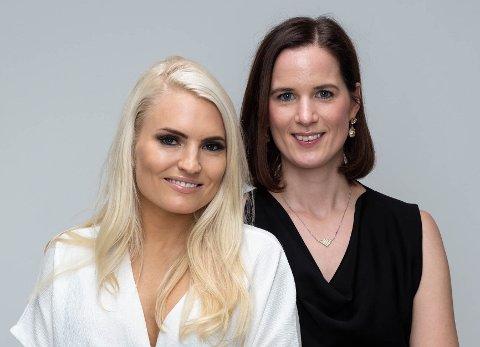 KOMMER TIL HØNEFOSS: Isabelle Ringnes (til venstre) og Marie Louise Sunde står bak Equality Check, en nettside for anonyme vurderinger om opplevd likestilling på arbeidsplassen.