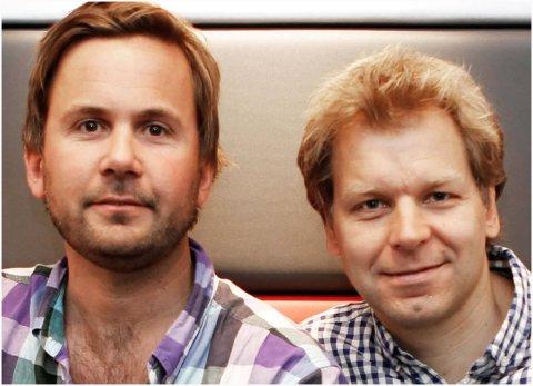 BLE IKKE HØNEFOSS: Komikerne Kristian Ødegård og Espen Eckbo står bak produksjonsselskap Seefood TV, som ikke velger Hønefoss skole som lokasjon for sin nye TV-serie.