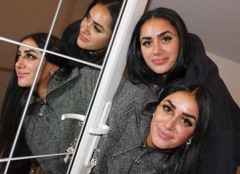Motebok i mai: Tvillingene Vita (øverst) og Wanda Mashadi (26) fra Strømmen blir forfattere. Til våren kommer deres aller første bok. Foto: Britt Hoffshagen