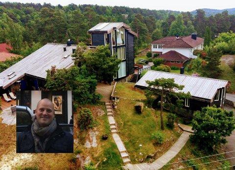 TÅRN: Huset er lett å få øye på der det ligger på en høyde på Vesterøya. Jørgen Hem synes det er vemodig å selge det.