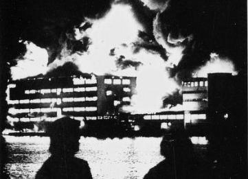 ENDRET HISTORIEN: Onsdag 15. september 1976 gikk brannalarmen på Jotun sin malingsfabrikk på Gimle i Sandefjord. Seks mennesker mistet livet og elleve ble skadet, og verdier for over 175 millioner kroner gikk tapt. Denne hendelsen endret ifølge Direktoratet for samfunnssikkerhet og beredskap hvordan norske myndigheter fulgte opp industrien som håndterer brannfarlige varer. ARKIVFOTO: Sandefjords Blad