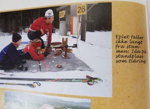 På bildet er Ida Lien ti år. Her får hun instruksjoner på standplass av sin far, Anders Lien.