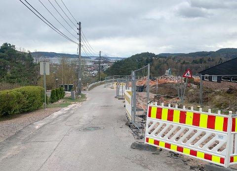 Arbeidene i Juveveien har pågått siden i vinter og skal stå ferdig i uke 24.