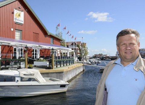 POPULÆRT UTESTED: Arve Kristensen driver utestedet Galeien i Kragerø.