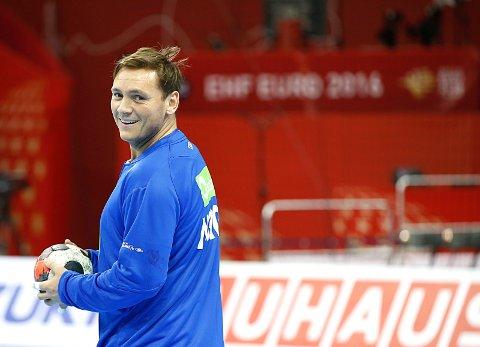 Krakow, Polen 20160121. Håndball-EM 2016 for menn.  Joakim Hykkerud trente  i Tauron Arena Krakow torsdag morgen. Foto: Vidar Ruud / NTB scanpix