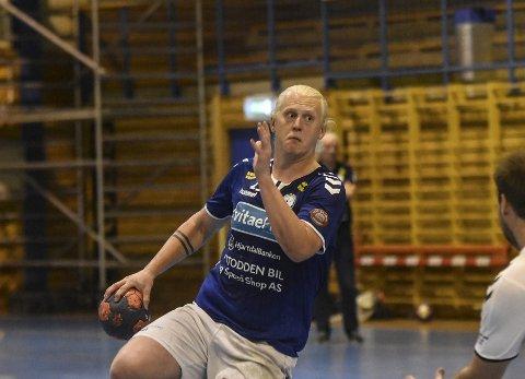 NI MÅL: Eirik Juul Frømyhr satte inn ni mål da Glassverket/Konnerud ble slått med ett mål. Denne sesongen er krigeren tilbake som strekspiller, og vil bli en viktig brikke for laget utover i sesongen. Bildet er hentet fra 2019-sesongen.