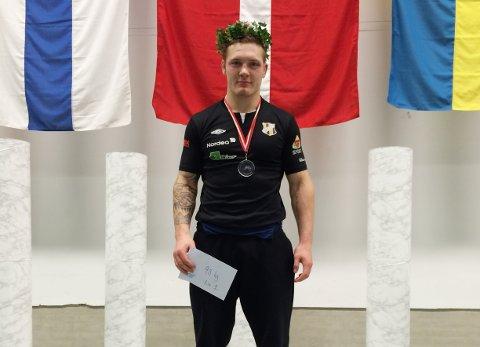 Felix Baldauf fra Kristiansund vant gull i Thor Masters-stevnet i Nykøping i Danmark lørdag. Foto: Privat