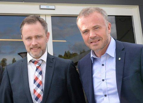 Arne Ingebrigtsen (til venstre) og Kjell Neergaard.