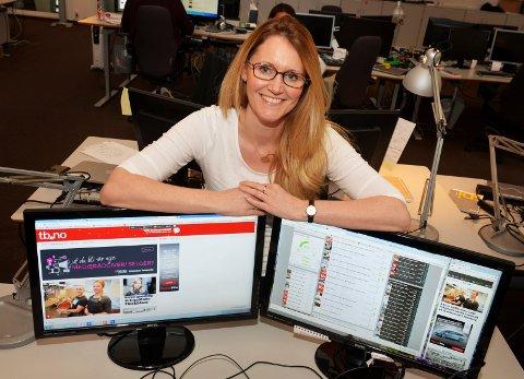 PÅ NETT: Suzanne Kristoffersen er frontredigerer på tb.no og vet hva som fenger leserne.