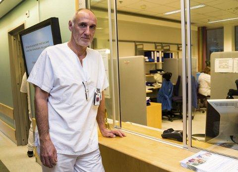 SEKSJONSSJEF: Remo Gerdts ved Sykehuset i Vestfolds lungeavdeling i Tønsberg.