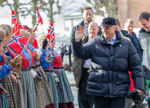 Kong Harald deltok i forrige uke på 25-årsjubileet for Lillehammer-OL. Foto: Geir Olsen / NTB scanpix