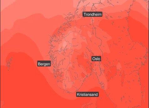 VARME PÅ VEI: Til helgen kommer varmen tilbake til Sør-Norge. Østafjells kan det bli over 20 grader.