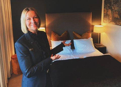HELDIG: Daglig leder Anette Aale ved Wilhelmsen House anser seg selv som heldig som kan vise til tilnærmet lik omsetning i koronaåret, sammenlignet med 2019.