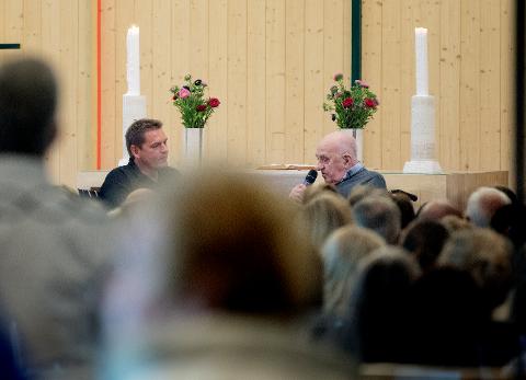 I RETTEN: Joralf Gjerstad var på kirketurne sammen med Therese Ulvan og Øyvind Løvrød i 2017 og 2018. – Jeg anser meg som veldig nær Joralf, sa Løvrød i retten torsdag.