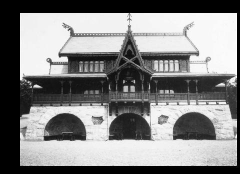 HELÅRSRETURANT: Fram til 1936 kunne man spise og drikke året rundt på resturant Hasselbakken i parken på St. Hanshaugen. Den er det flere som ønsker å gjenopplive. Det har imdilertid også kommet inn et langt mer moderne innpsill.