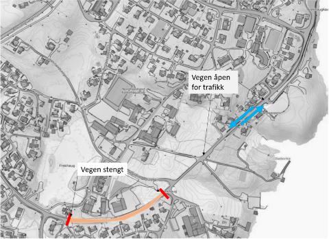 Kartet viser kvar det er moglegheit til å køyre fredag 27. mars.