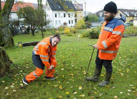 Øystein Skår (t.v.) og Anders Wahlborg mener Fløen parsell ligger i et historisk «veldig, veldig viktig område».