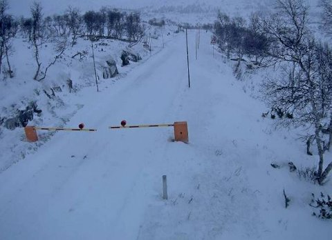 Dette bildet er tatt ved Leiro bom på Hardangervidda tirsdag formiddag.