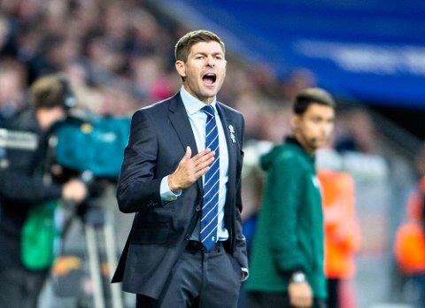 Steven Gerrard og Rangers står uten tap denne sesongen etter tolv kamper i Europa League og i den skotske toppserien. (Henning Bagger/Ritzau Scanpix via AP)
