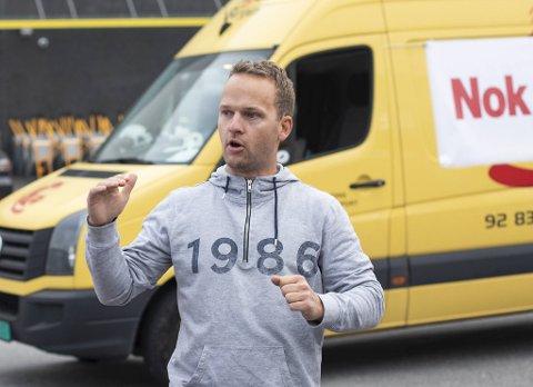 Svend Gunnar Lindhjem fra Hordvik deltok i fjor i en aksjon på E39 for å markere sin misnøye med ytre bomring. (Arkiv)
