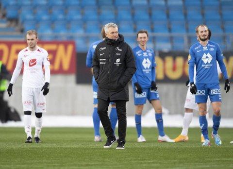 Brann-trener Kåre Ingebrigtsen fikk se at laget hans hevet seg bra i 2. omgang, etter å ha fått kjørt seg og kommet under med to mål før pause. Brann tapte 1-2 i Molde.