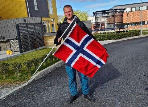 Klar: Anders Børve er klar for en litt annerledes 17. mai i nabolaget.