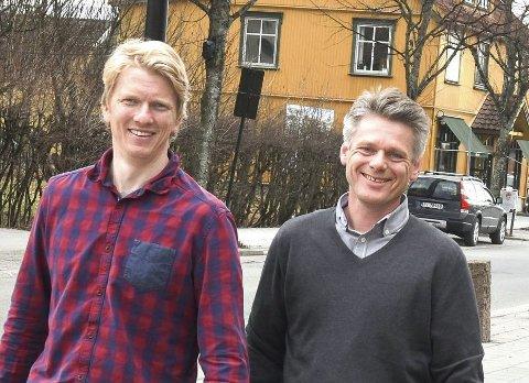 Satser Lokalt: Ola Kvale (t.v.) og Frank Abelsen.