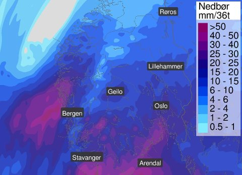 VARIERENDE VÆR: Det kommer både snø, sludd og regn i løpet av onsdagen.