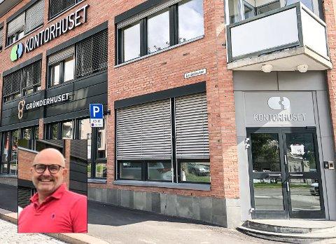 SLUTT: Det er slutt for Gründerhuset som nå blir en del av Kontorhuset, forteller Hakon Lærum (innfelt).