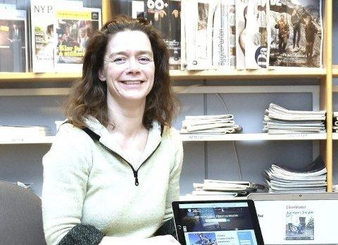 NY JOBB: Birgithe Schumann-Olse slutter i Øvre Eiker og blir Lillehammers nye biblioteksjef.