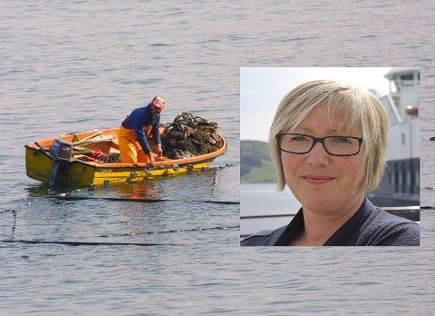 KILENOTFISKE: Frida Melvær (H) meiner at næringsutøvarane no må vere aktive og ta del i debatten om regulering av fiske etter villaks.