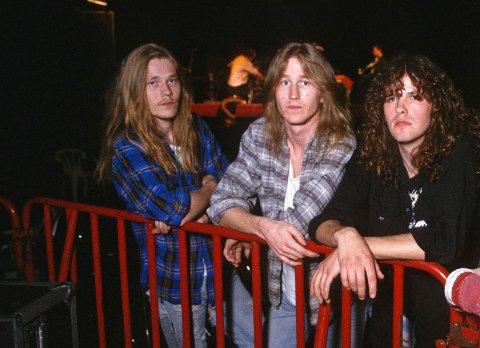 Comeback: Skule Stene, Grim Stene og Ragnar Vestin (fra venstre) er orignalbesetningen i Fredrikstad-bandet Equinox. Nå blir det opptreden på Tons of Rock.