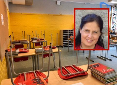 «Gult er kult» het det i den gamle Soloreklamen. Om dette også gjelder fargespillet på veggen bakerst i klasserommet, får leserne avgjøre selv. Henriette Narten og de andre foreldrene syntes imidlertid ikke det.