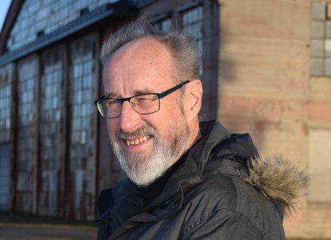 FORNØYD: Terje Thorbjørnsen, leder av Lokalhistorisk senter, er fornøyd etter tildelingen av 50.000 kroner.