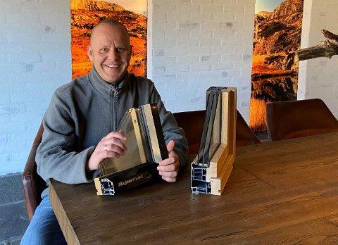 Sveinung Gilje leier kontor hos Tegl & betong i Industriveien på Ålgård