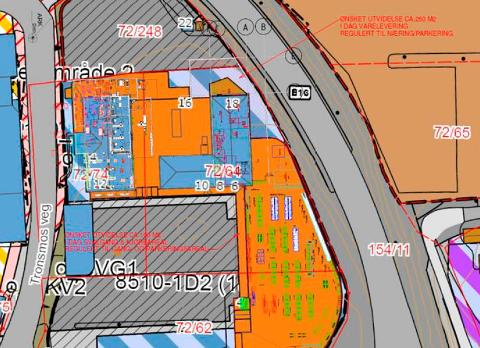 PLANLEGGES: Matbutikken kan bli større. Også i 2. etasje kan det skje ting.