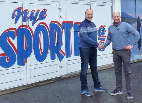Planlegging av utvidelsen har pågått i cirka et år. Her er daglig leder ved Nye Sporten, Per Arne Tollefsbøl, og senterleder ved Kongssenteret, Lasse Ellingsen.
