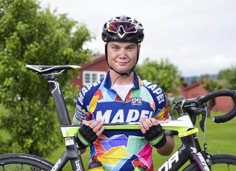 BESTE LOKALE: Ole Gamme fra Team Mapei ble nummer 14 på fredagens 66 kilometer lange etappe.