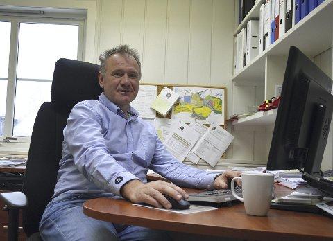 VIL BYGGE: Johnny Gangsø i Lunner almenning har tro på at Rema-bygget vil bli påbegynt til neste år.