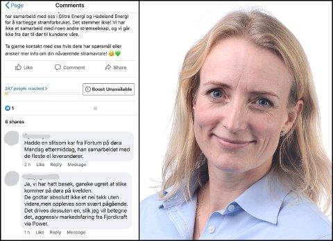 OBS:  Kommunikasjonssjef Ragnhild Ask Connell ber Glitre-kunder være obs dersom de får besøk på døra fra andre strømselskaper. – Vi samarbeider ikke med noen, sier Ask Connell.