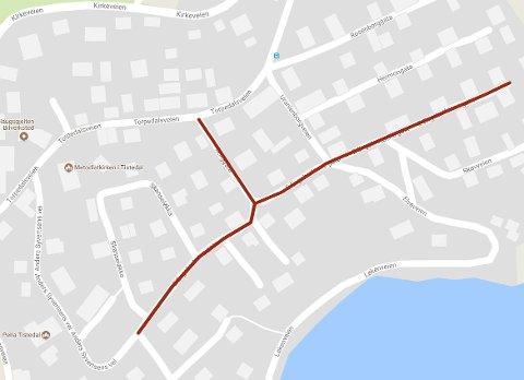 SKAL GRAVE I MANGE MÅNEDER: Halden kommune legger nytt vann- og avløpsnett i Borgergata og E. Engebretsens gate på Kokkhaugen.