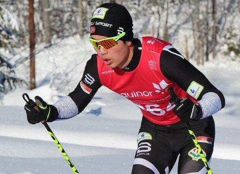 GIKK FORT: Petter Stokkeland fullførte Birkebeinerrennet på 2.38,34, noe som skal være tidenes beste Halden-resultat i Birken.