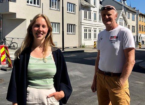 HØYRE: Karoline Sjøen Andersen og Tor Kjell Bergjord representerer Høyre i plan- og miljøutvalget. Duoen er kritiske til kommunens håndtering av reguleringssaken i Kronå.
